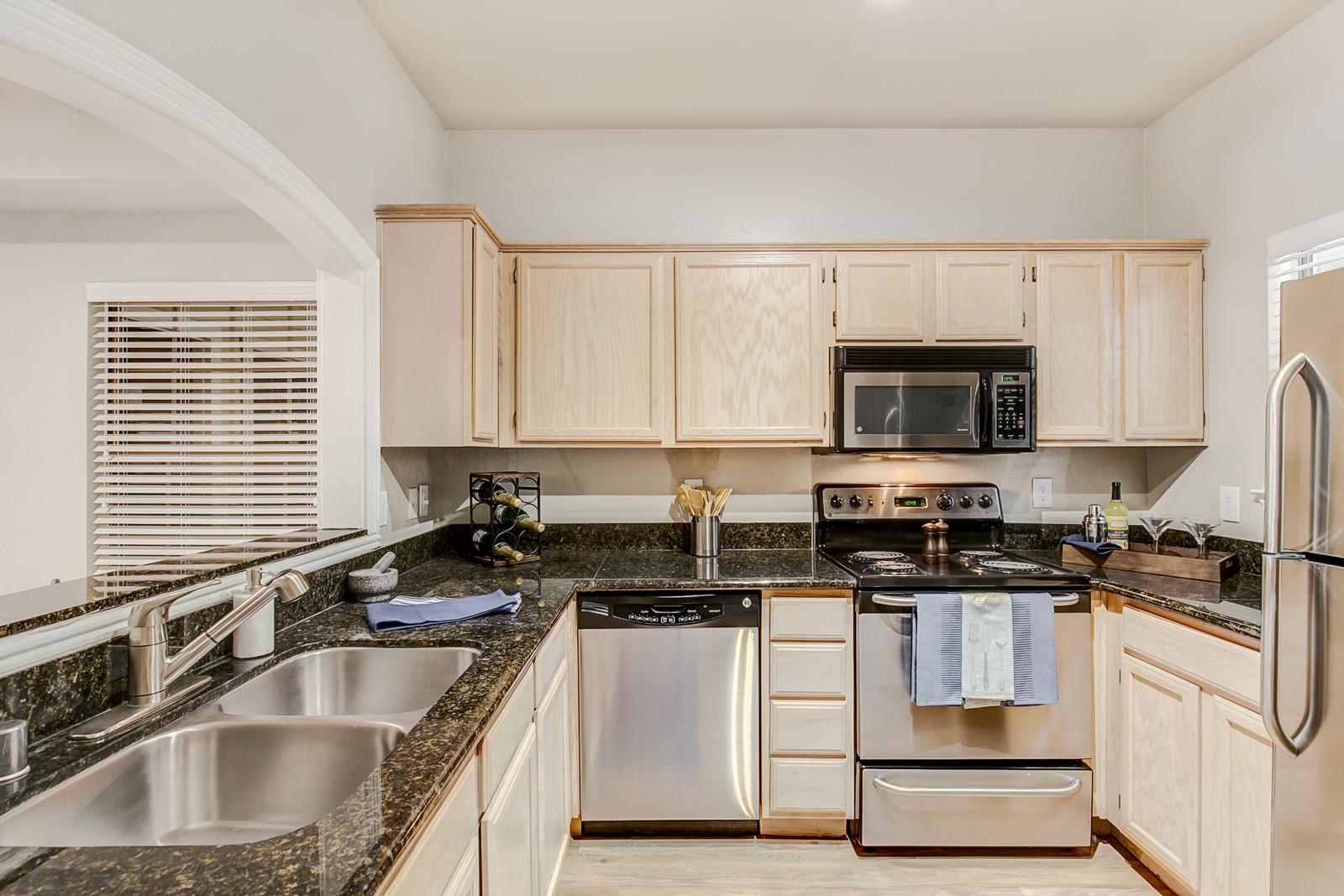 Kitchen at Rivera at West Village Apartments