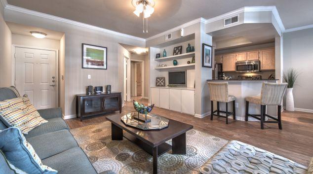 Living Room at Rivera at West Village Apartments