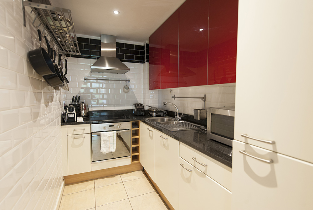 Kitchen at The Dickens Serviced Apartment
