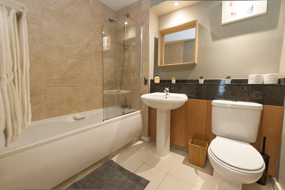 Bathroom at The Dickens Serviced Apartment
