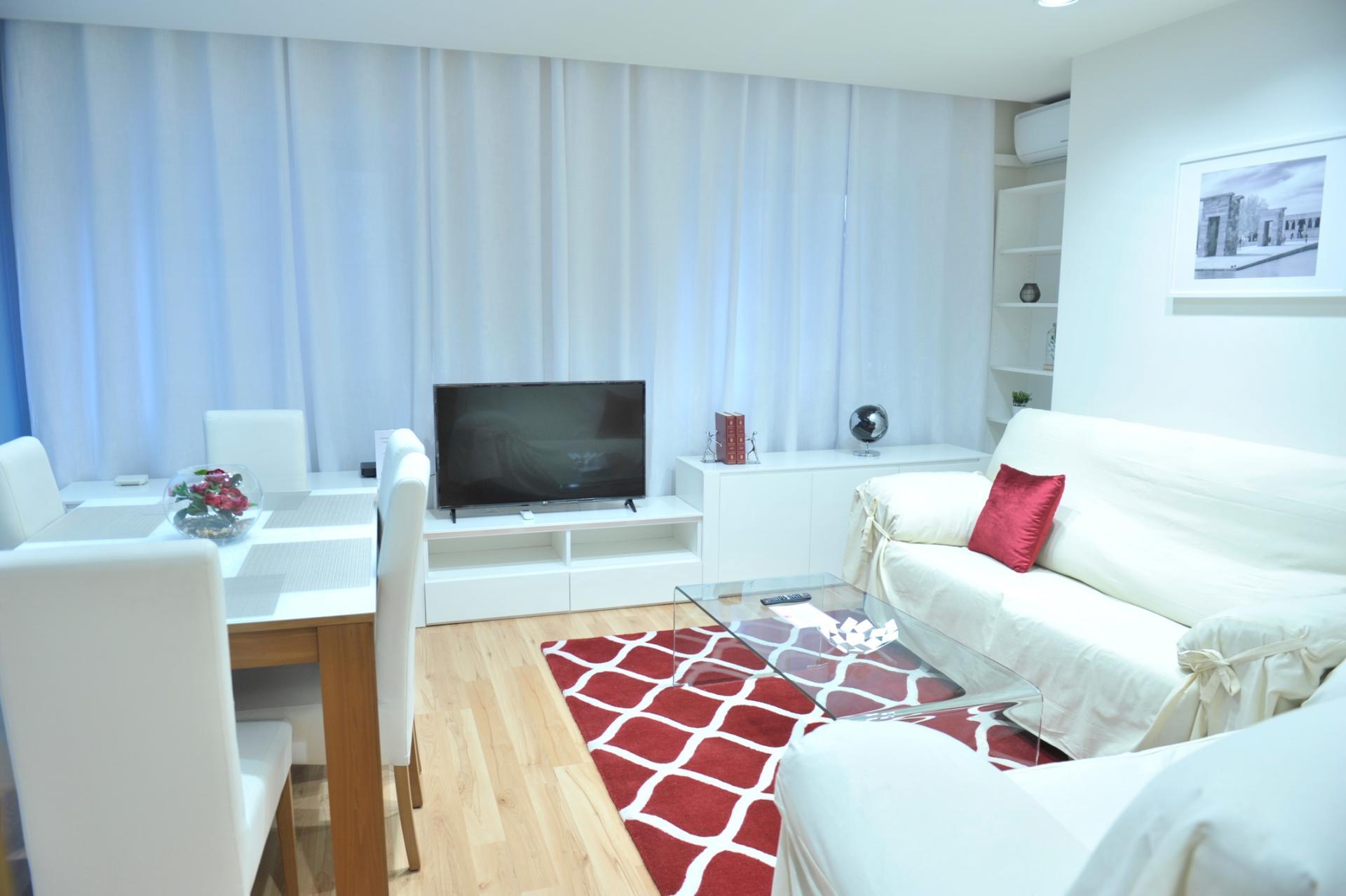 Living room at Castellana 114 Apartments