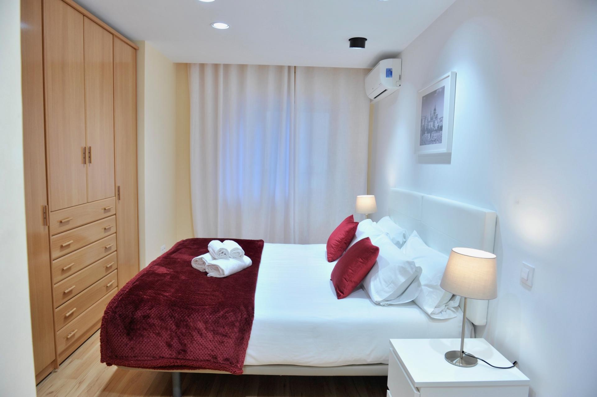 Bedroom at Castellana 114 Apartments