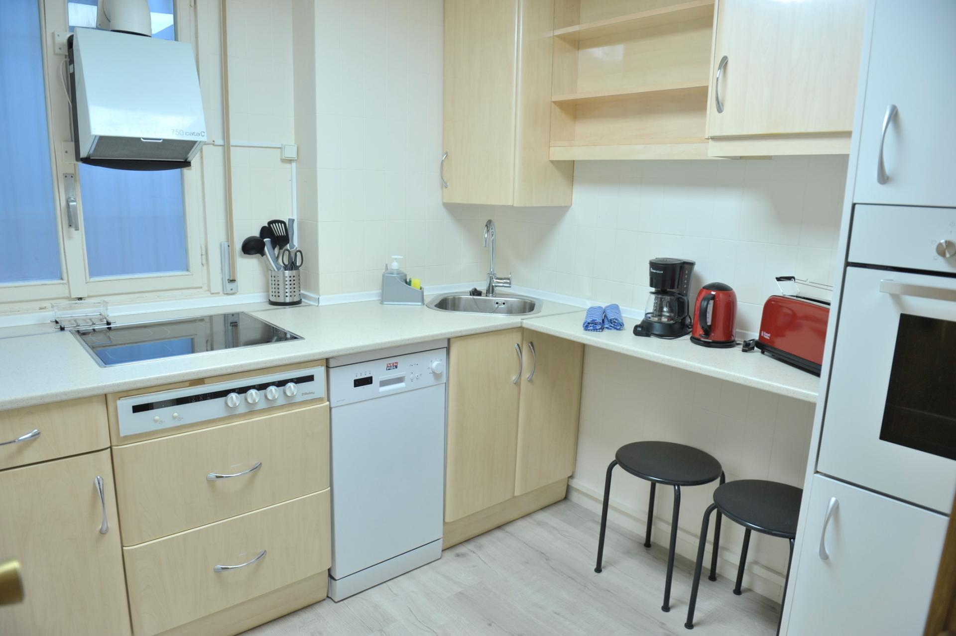 Kitchen at Castellana 114 Apartments