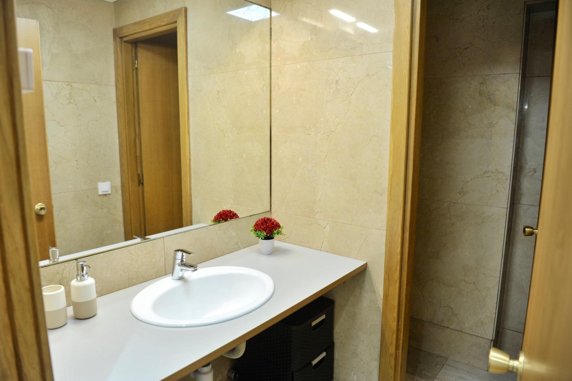 Bathroom at Castellana 114 Apartments