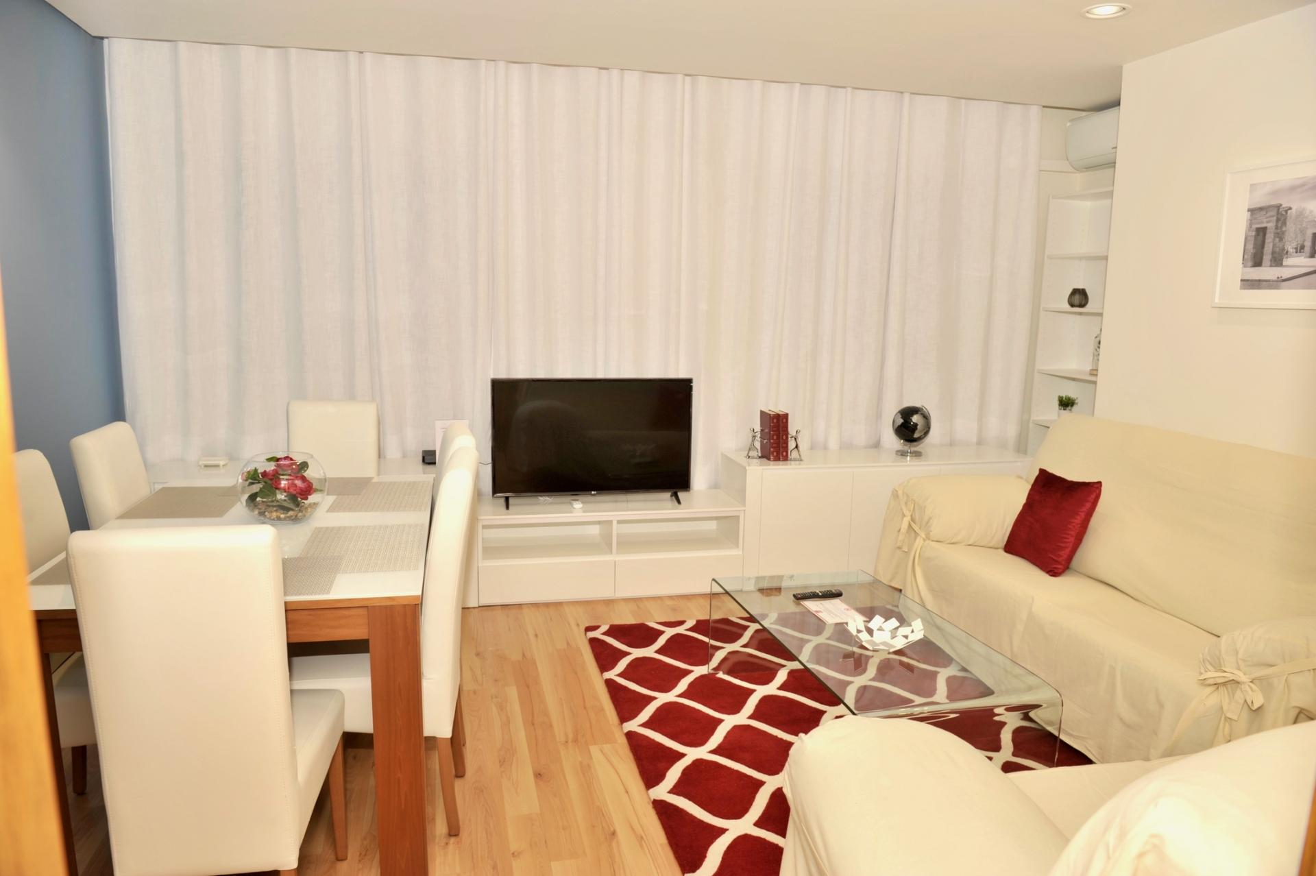 TV at Castellana 114 Apartments