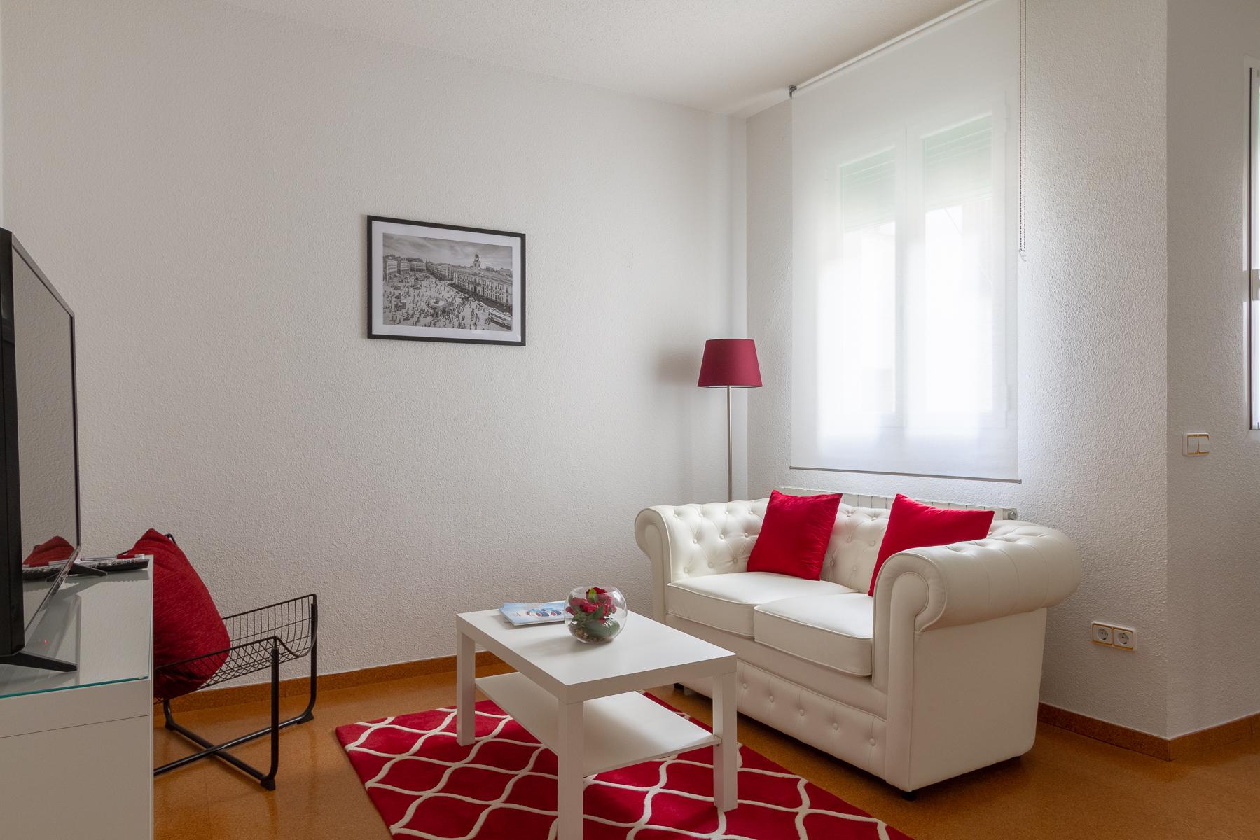 Living area at Fernan Gonzalez Apartments