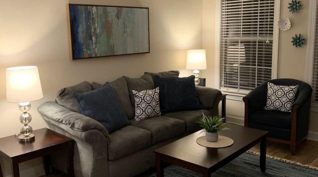 Living room at Notting Hill Apartments