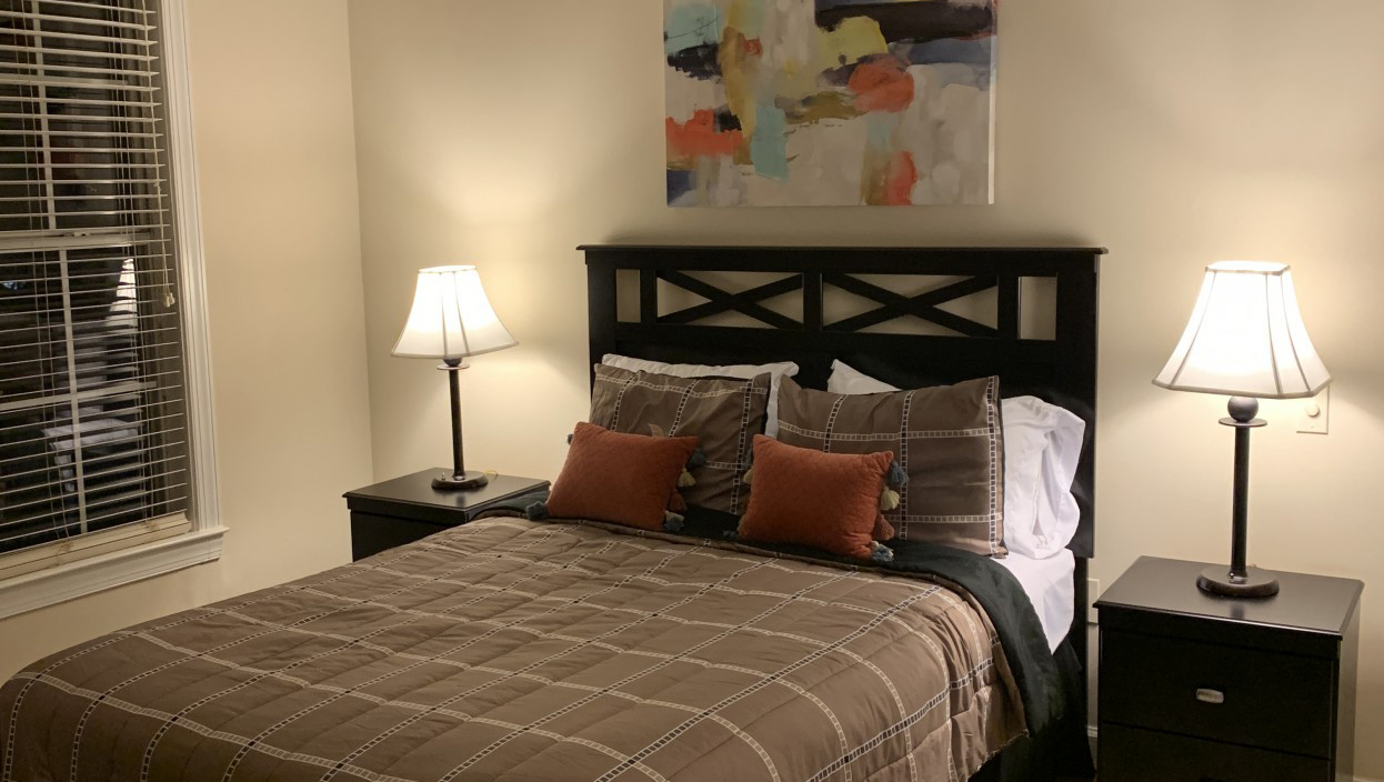 Bedroom at Notting Hill Apartments