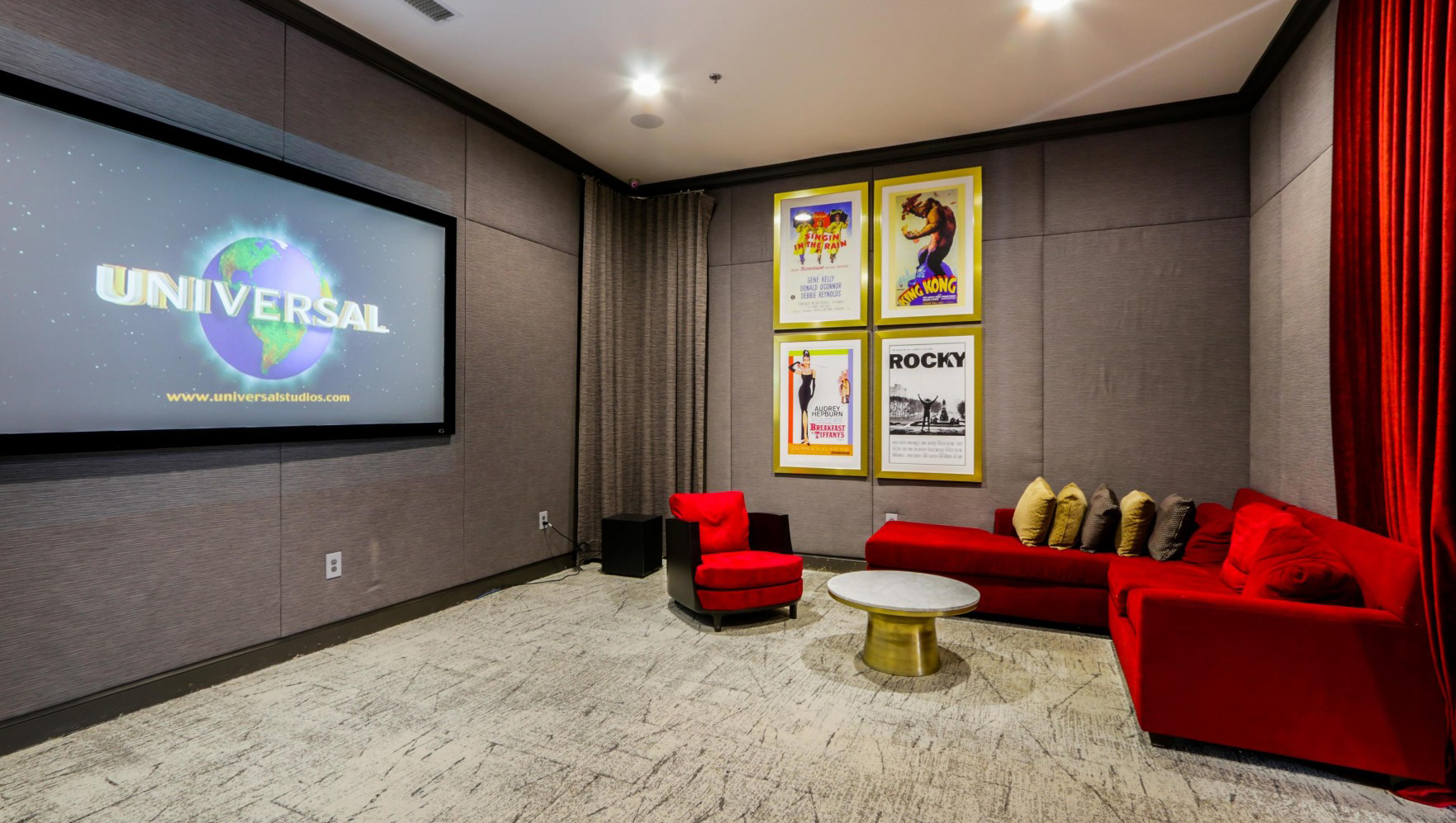 Cinema room at Notting Hill Apartments
