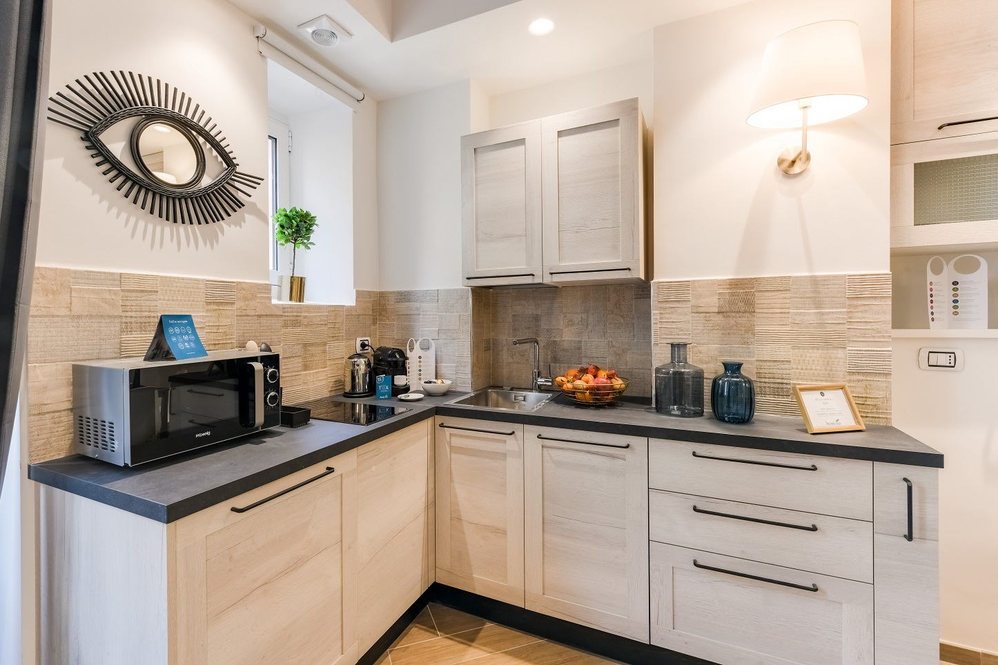 Kitchen at Moscova Serviced Apartment