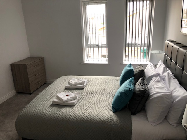 Bedroom at William Street Apartments