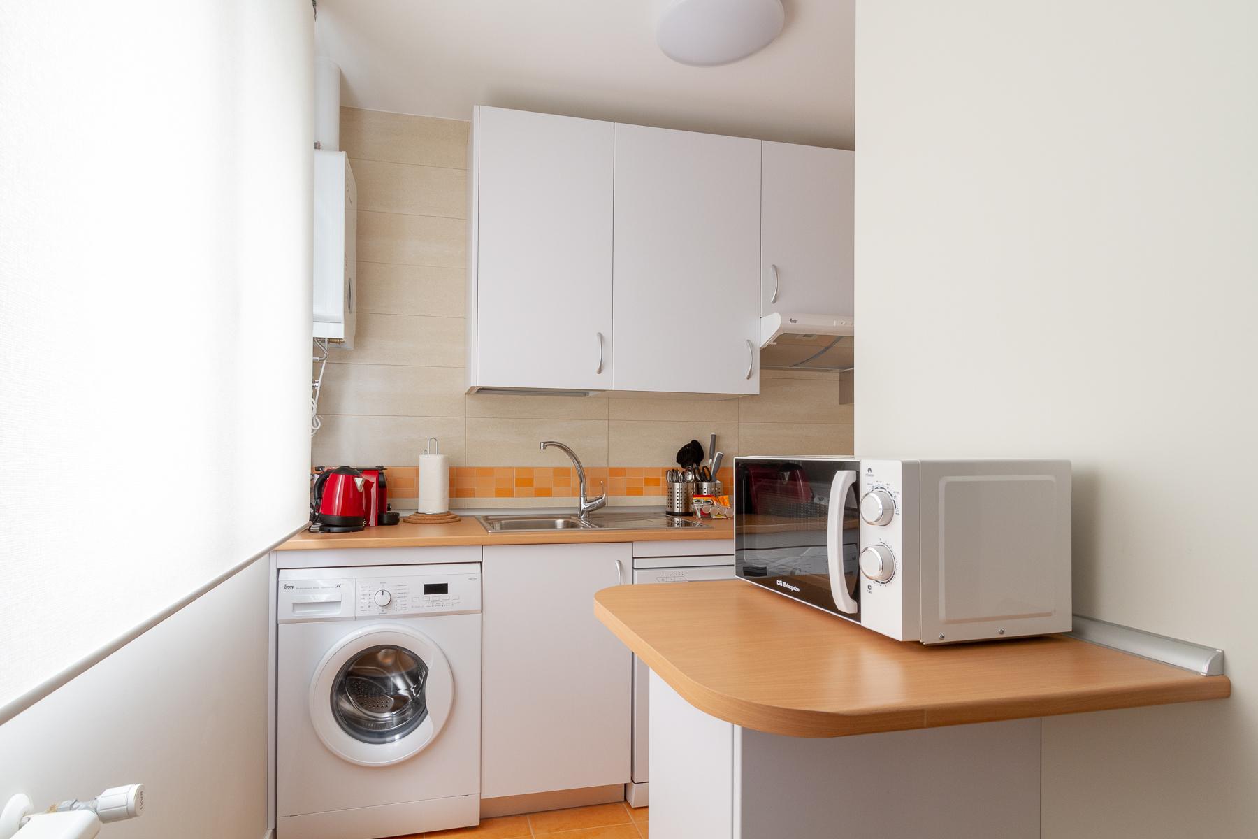 Kitchen area at the Calle Ibiza Apartments