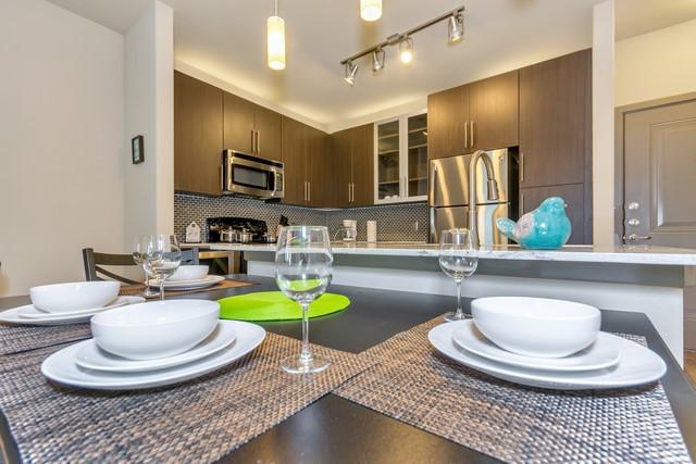 Dining Room at Elan City Lights Apartment