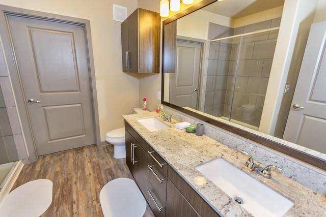 Bathroom at Elan City Lights Apartment