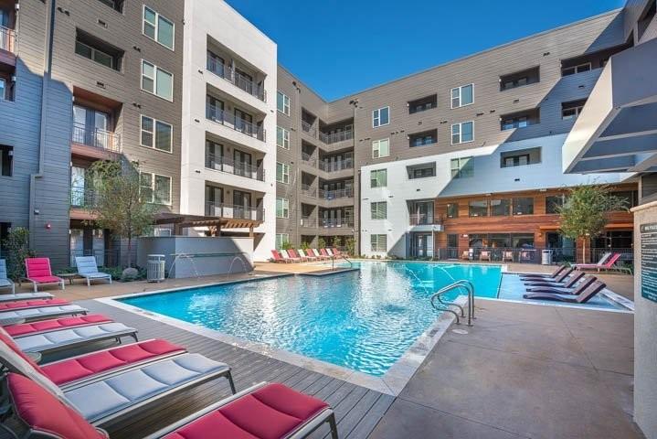 Lounge Pool at Elan City Lights Apartment