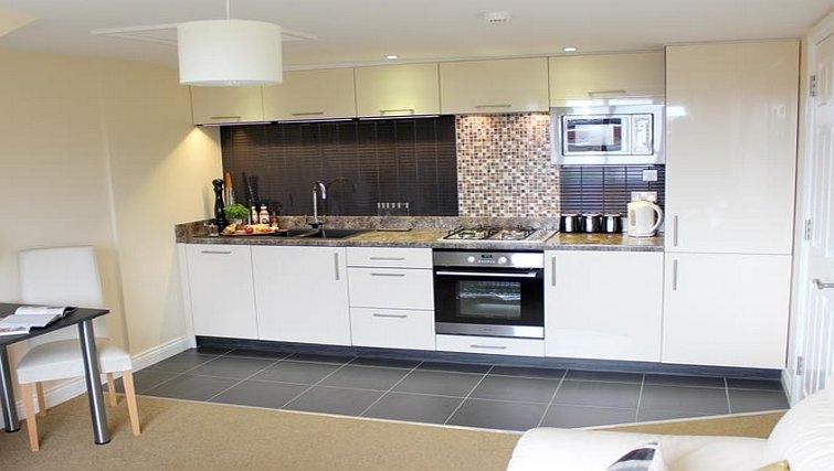 Sleek kitchen in St Davids Apartments