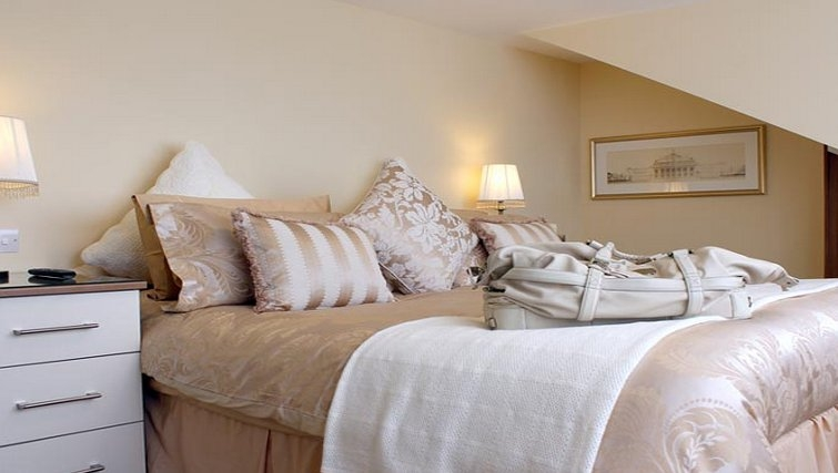 Luxurious bedroom in St Davids Apartments