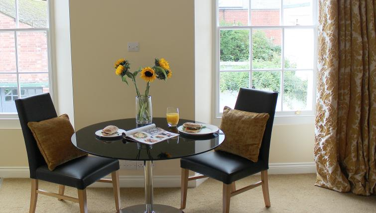 Dining area in St Davids Apartments