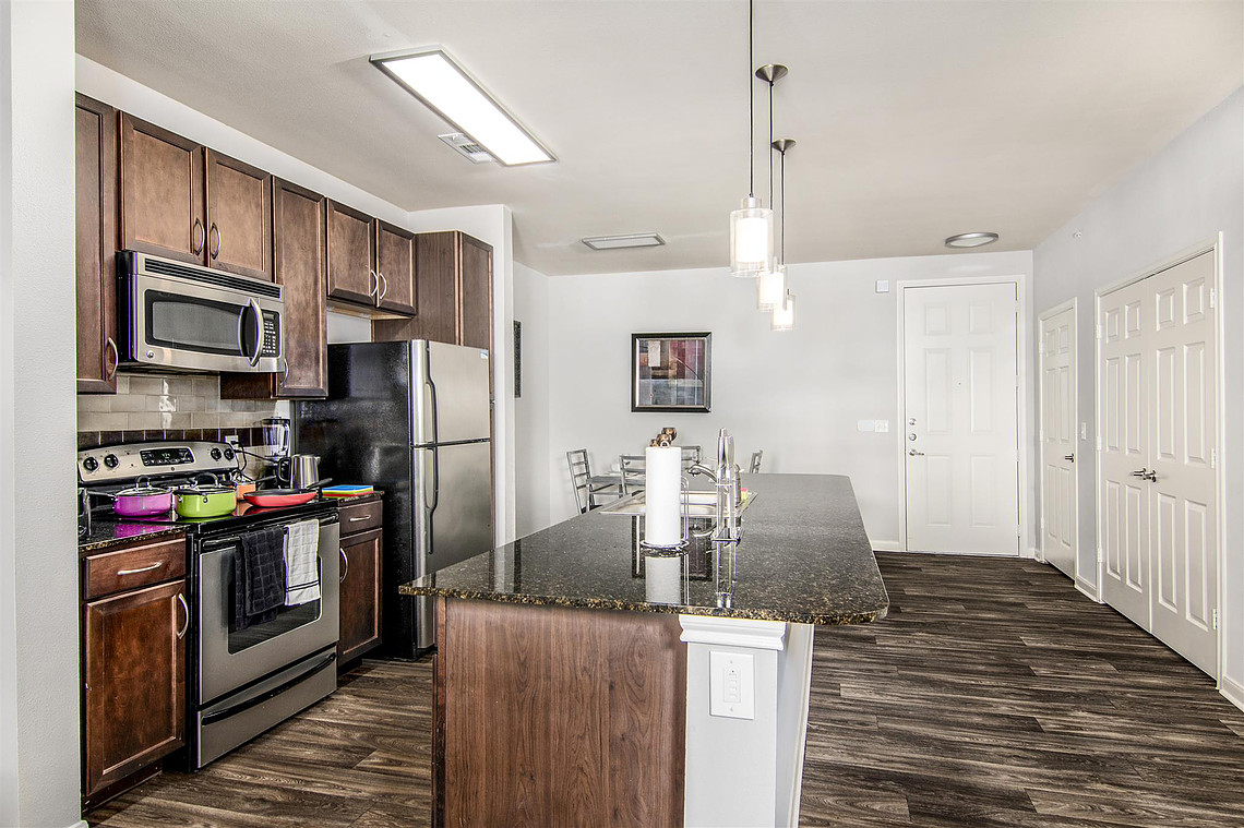 Kitchen at Vibe Medical District Apartment