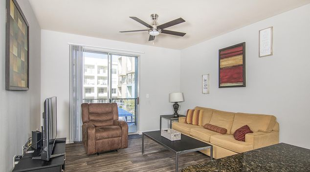 Living Room at Vibe Medical District Apartment