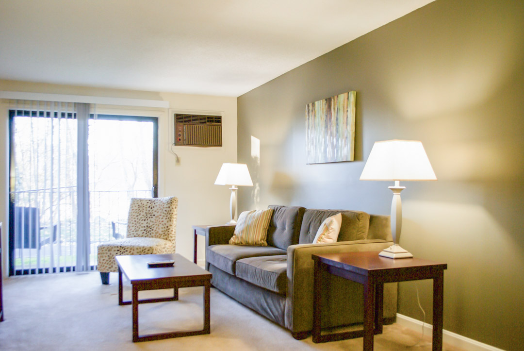 Living area at Princeton Place Apartment