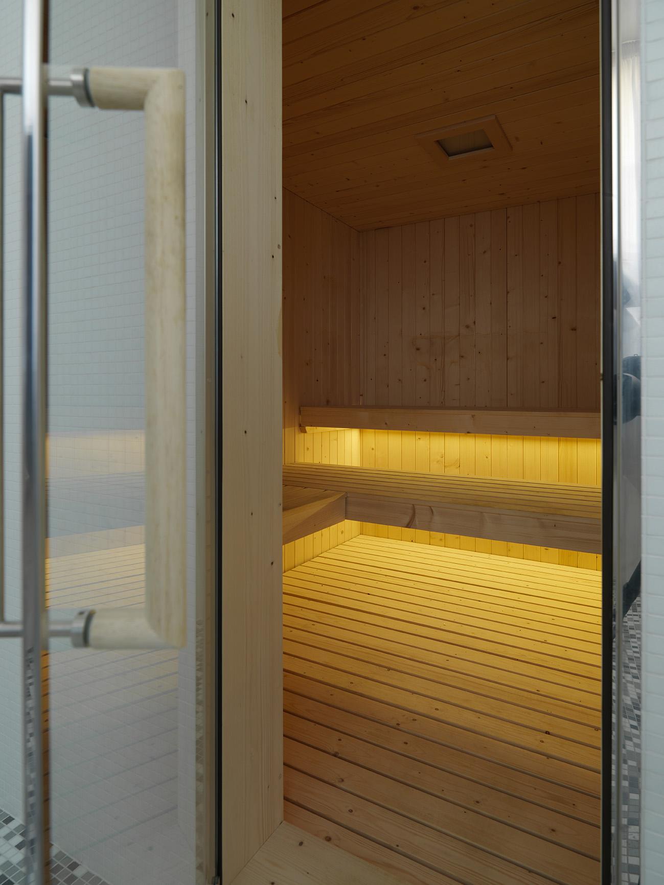 Sauna at Smart Living Lugano Apartments
