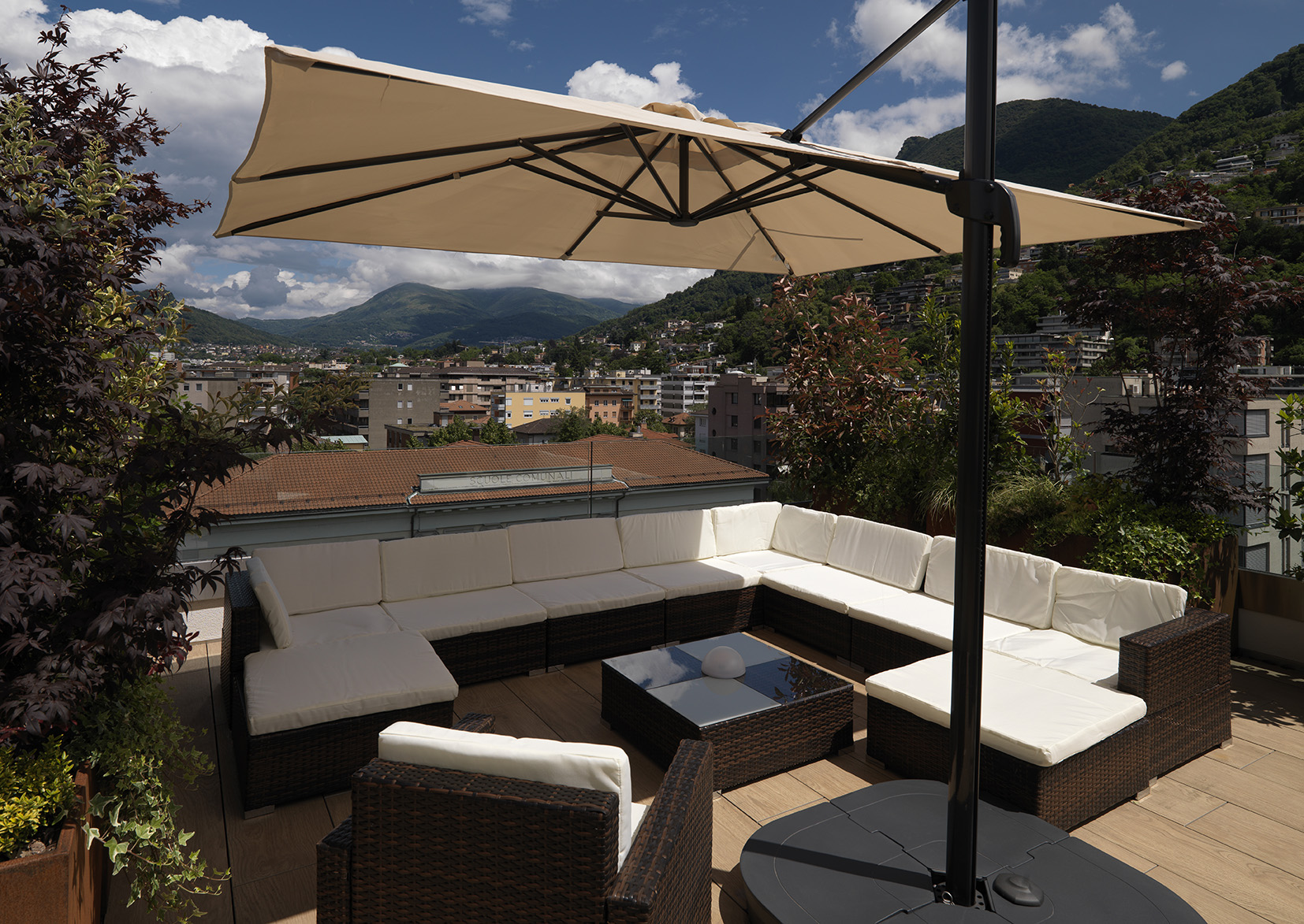 Terrace at Smart Living Lugano ApartmentsSmart Living Lugano Apartments