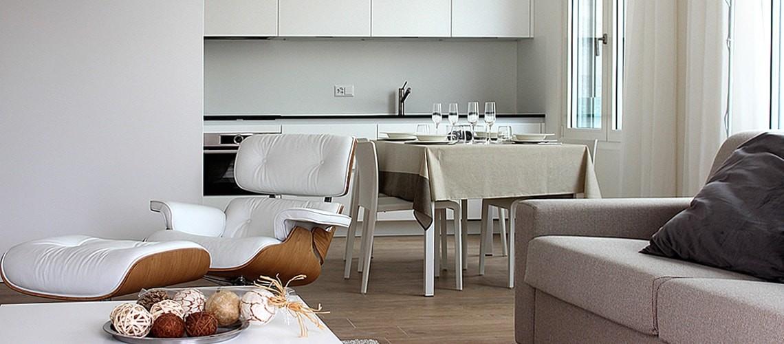 Kitchen at Smart Living Lugano Apartments