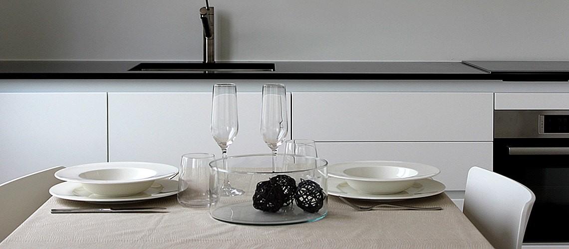 Table at Smart Living Lugano Apartments
