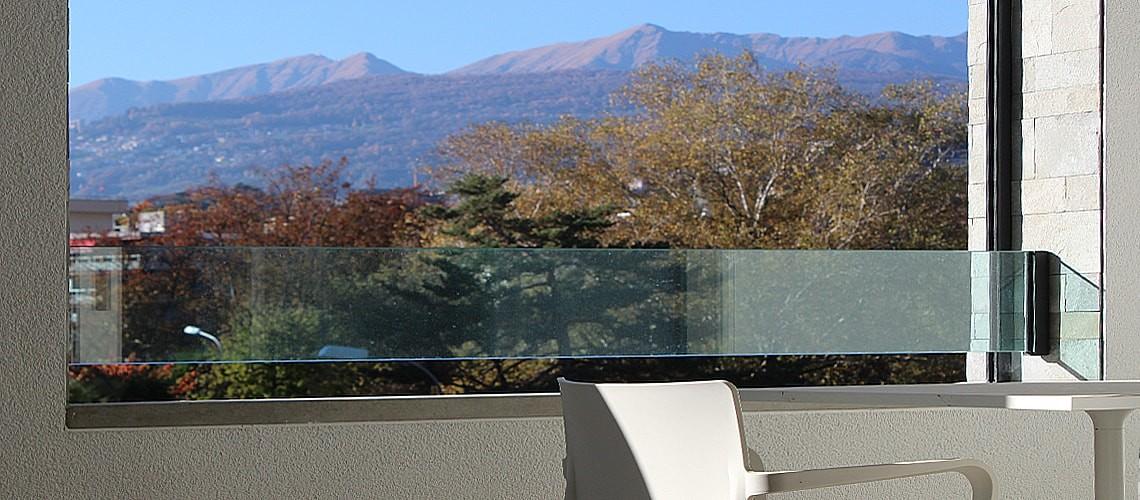 Balcony view at Smart Living Lugano Apartments