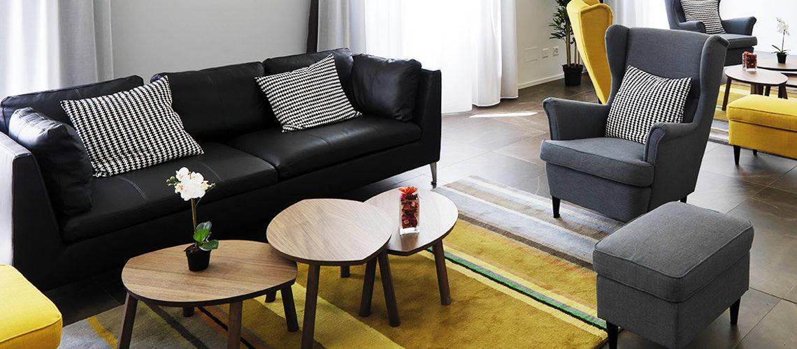 Lounge area at Smart Living Lugano Apartments