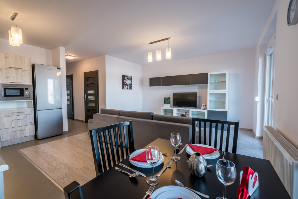 Dining area at Sikorskiego Apartments