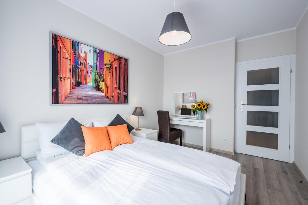 Bedroom at Sikorskiego Apartments