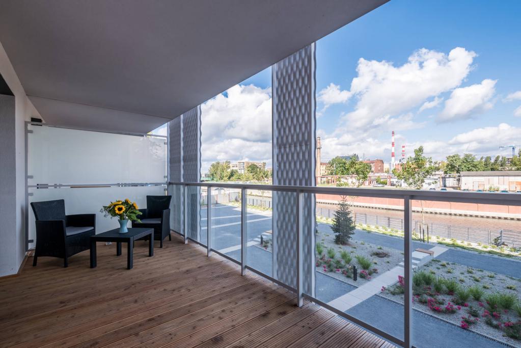 Balcony at Sikorskiego Apartments