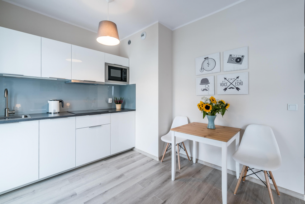 Kitchen at Sikorskiego Apartments