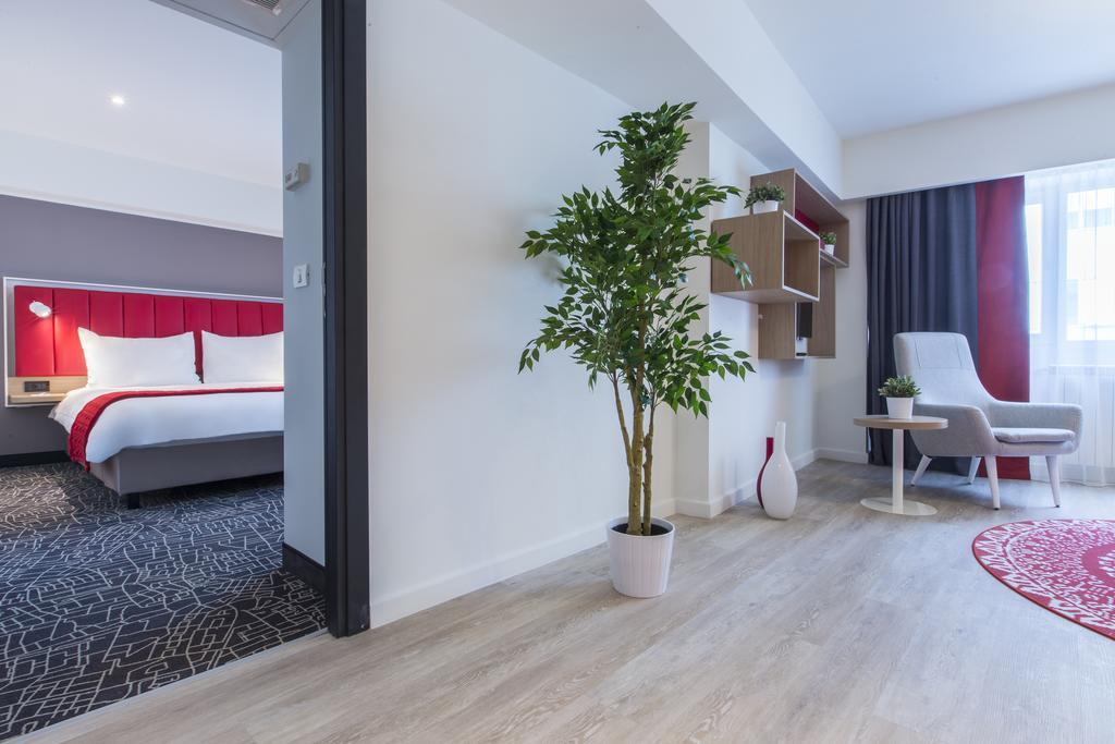 Modern living area at Park Inn Bucharest Residence