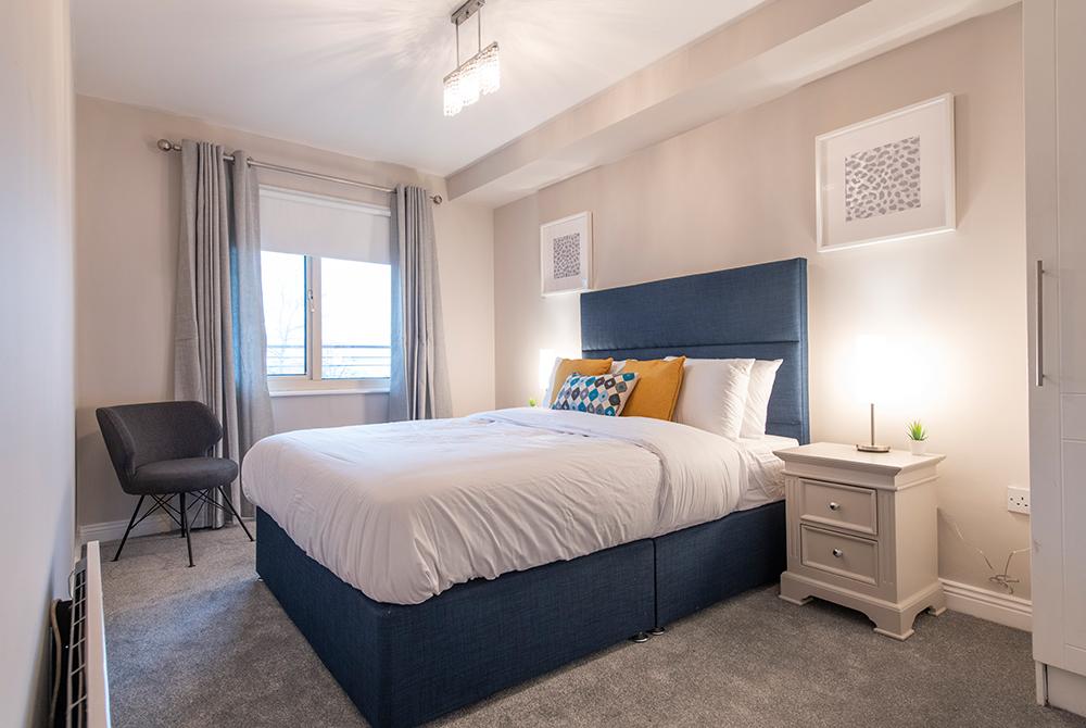 Bedroom at Oaks Apartment