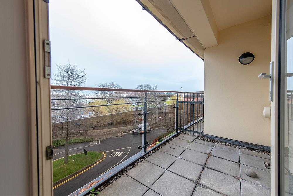 Balcony at Oaks Apartment