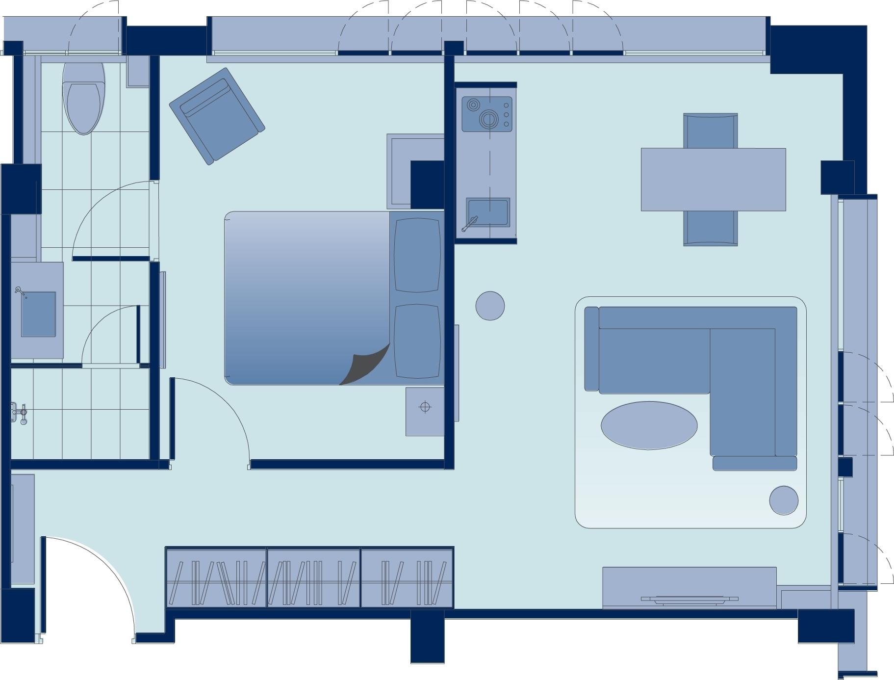 Floor plan 1 at Tsim Sha Tsui Apartments