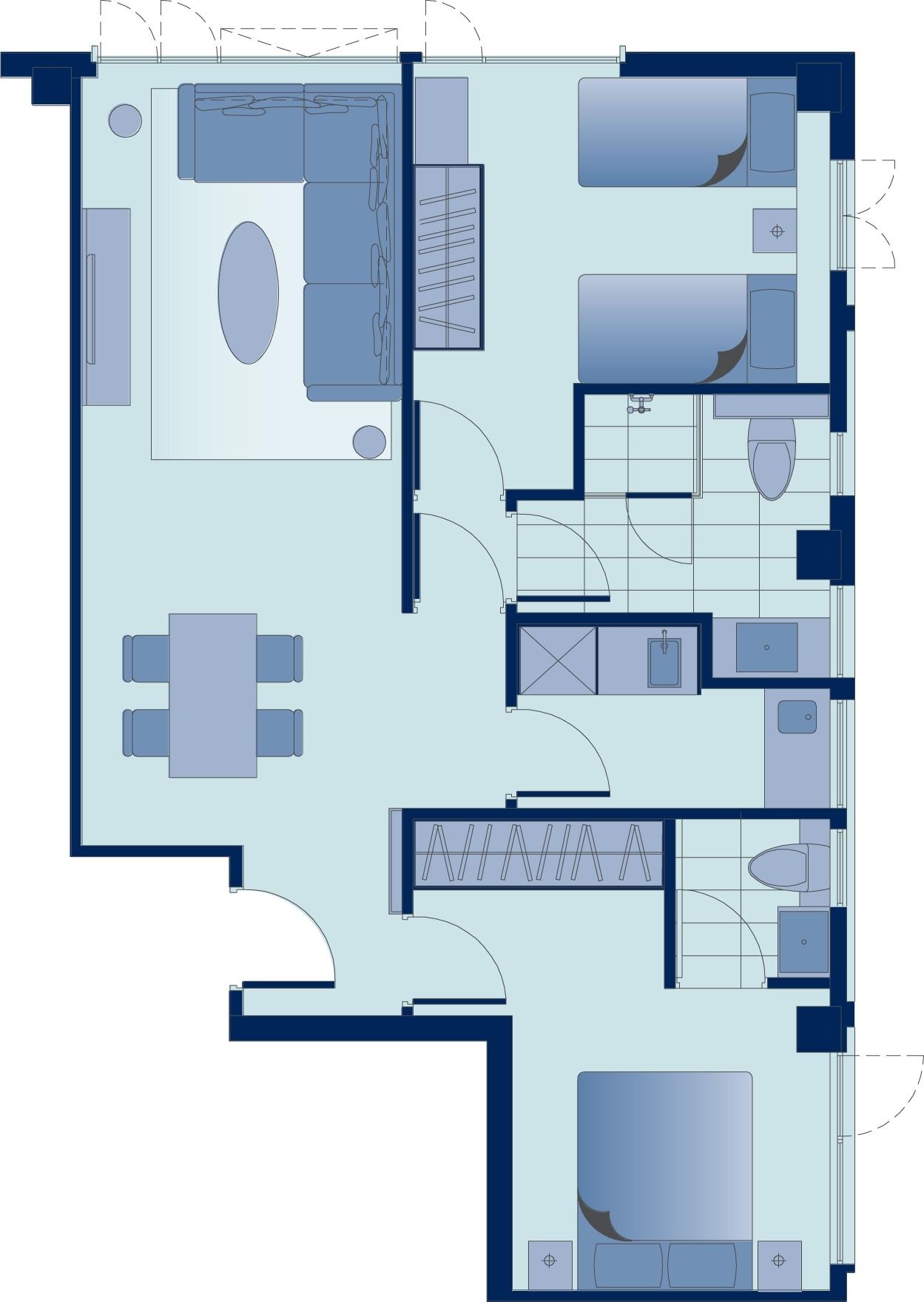 Floor plan 2 at Tsim Sha Tsui Apartments