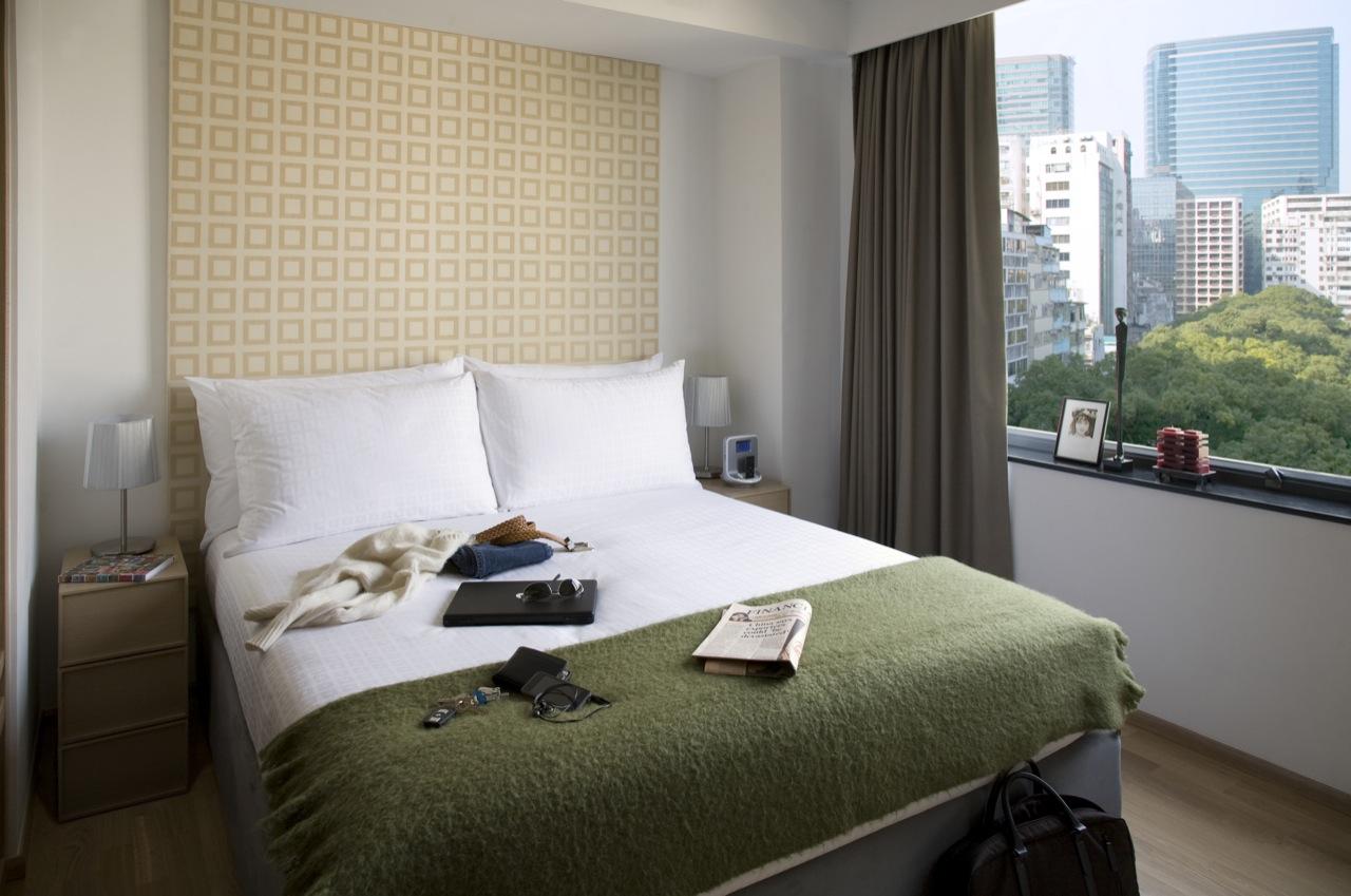 Bedroom at Tsim Sha Tsui Apartments