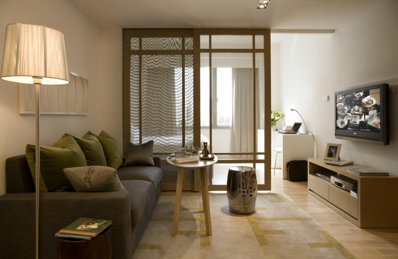 Living room at Tsim Sha Tsui Apartments