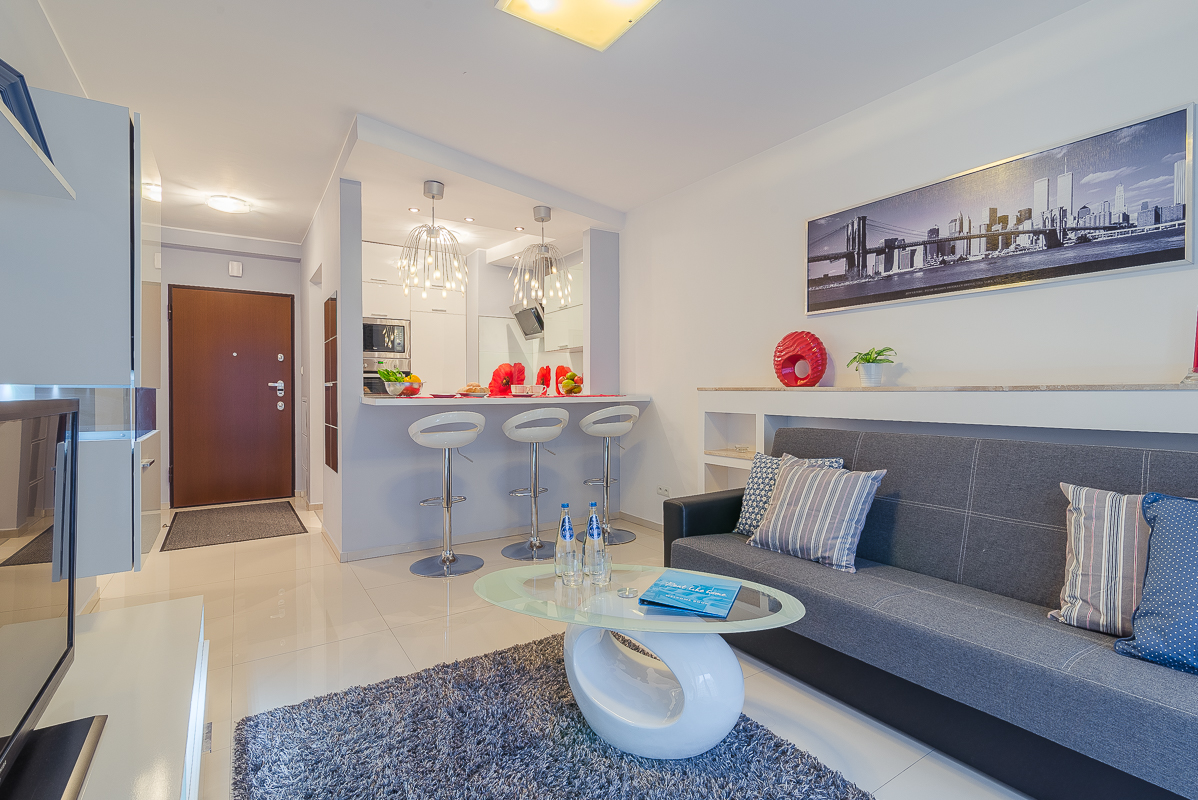 Living room at Wronia Serviced Apartments