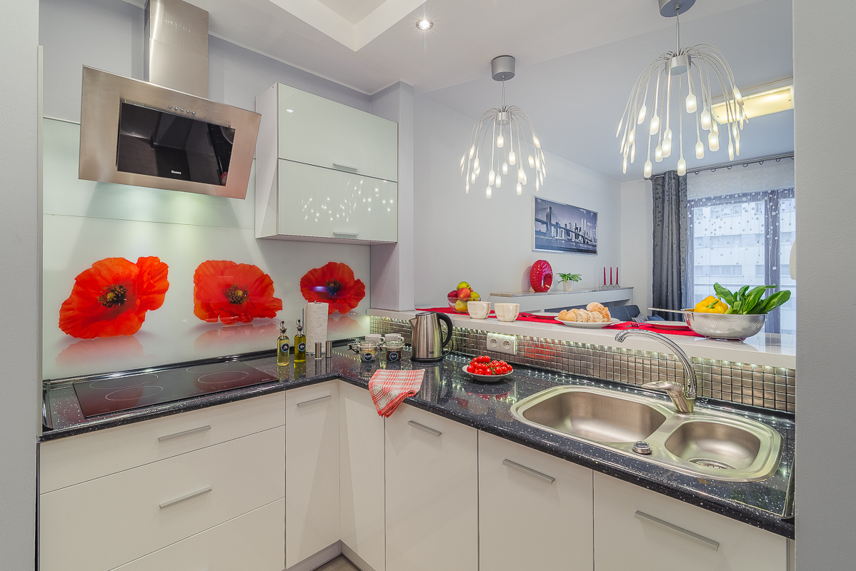 Kitchen at Wronia Serviced Apartments