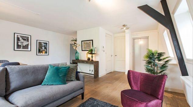 Living area at Sarphati Apartments, Centre, Amsterdam