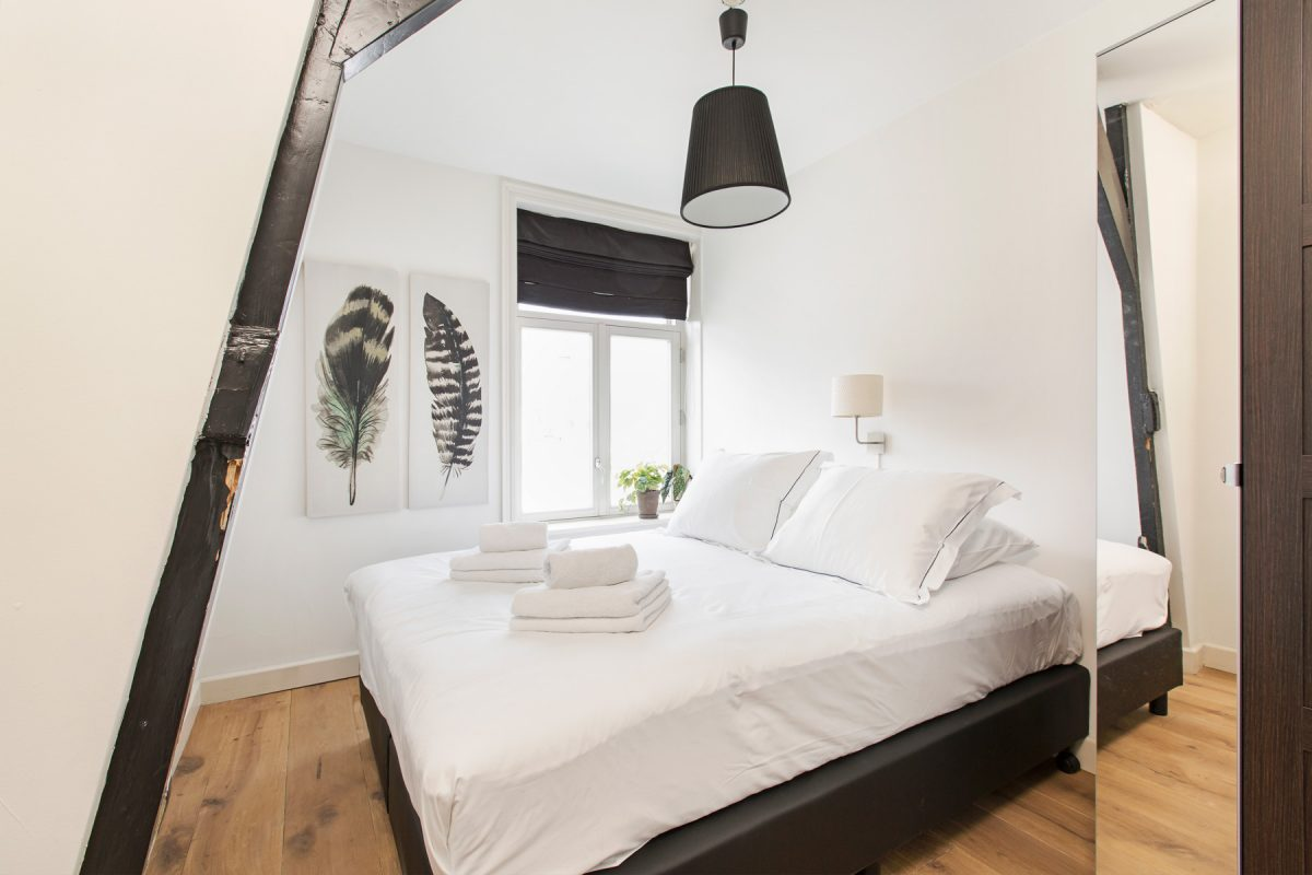 Bright bedroom at Sarphati Apartments, Centre, Amsterdam
