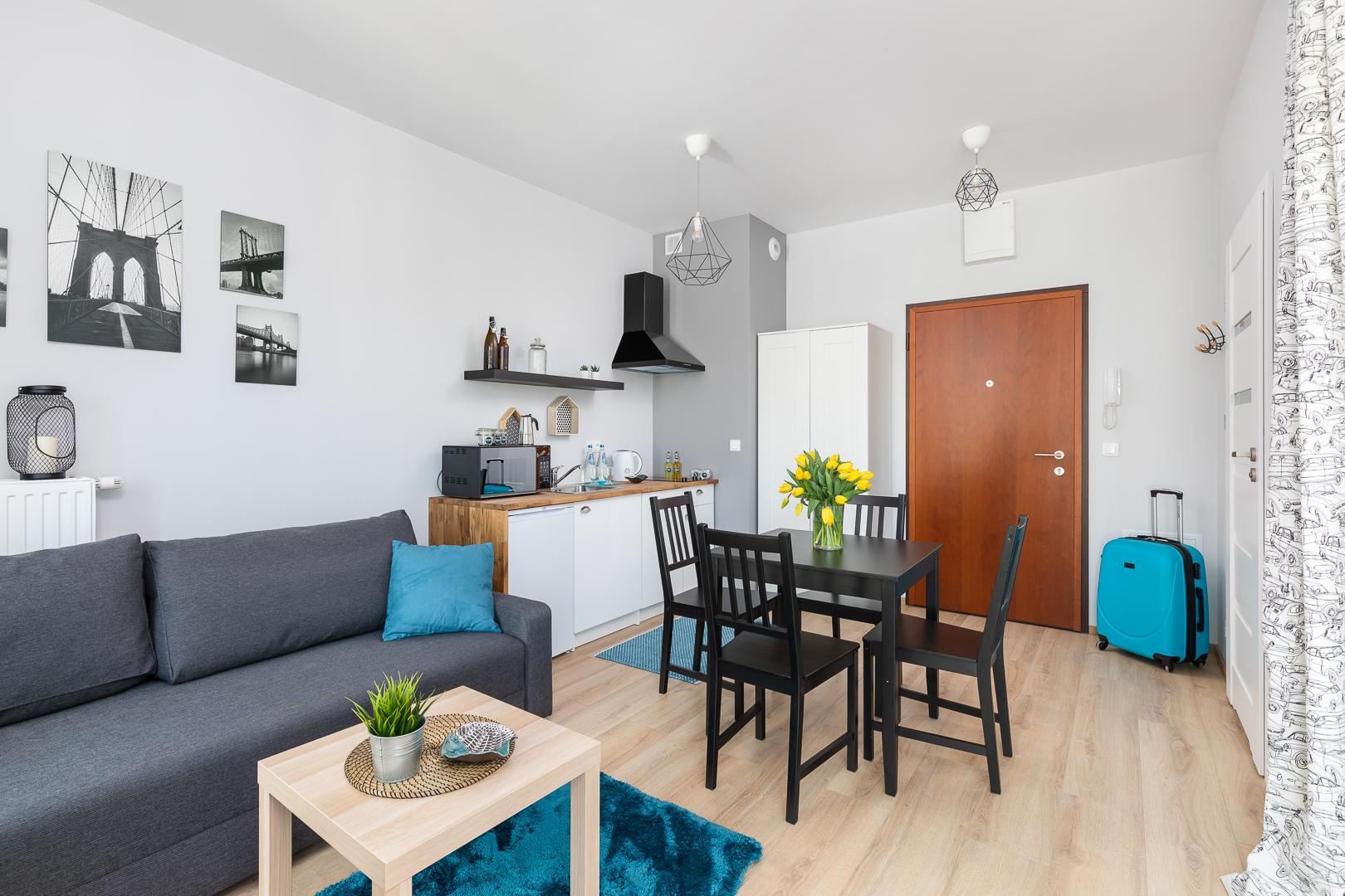 Dining table at Burakowska Apartments