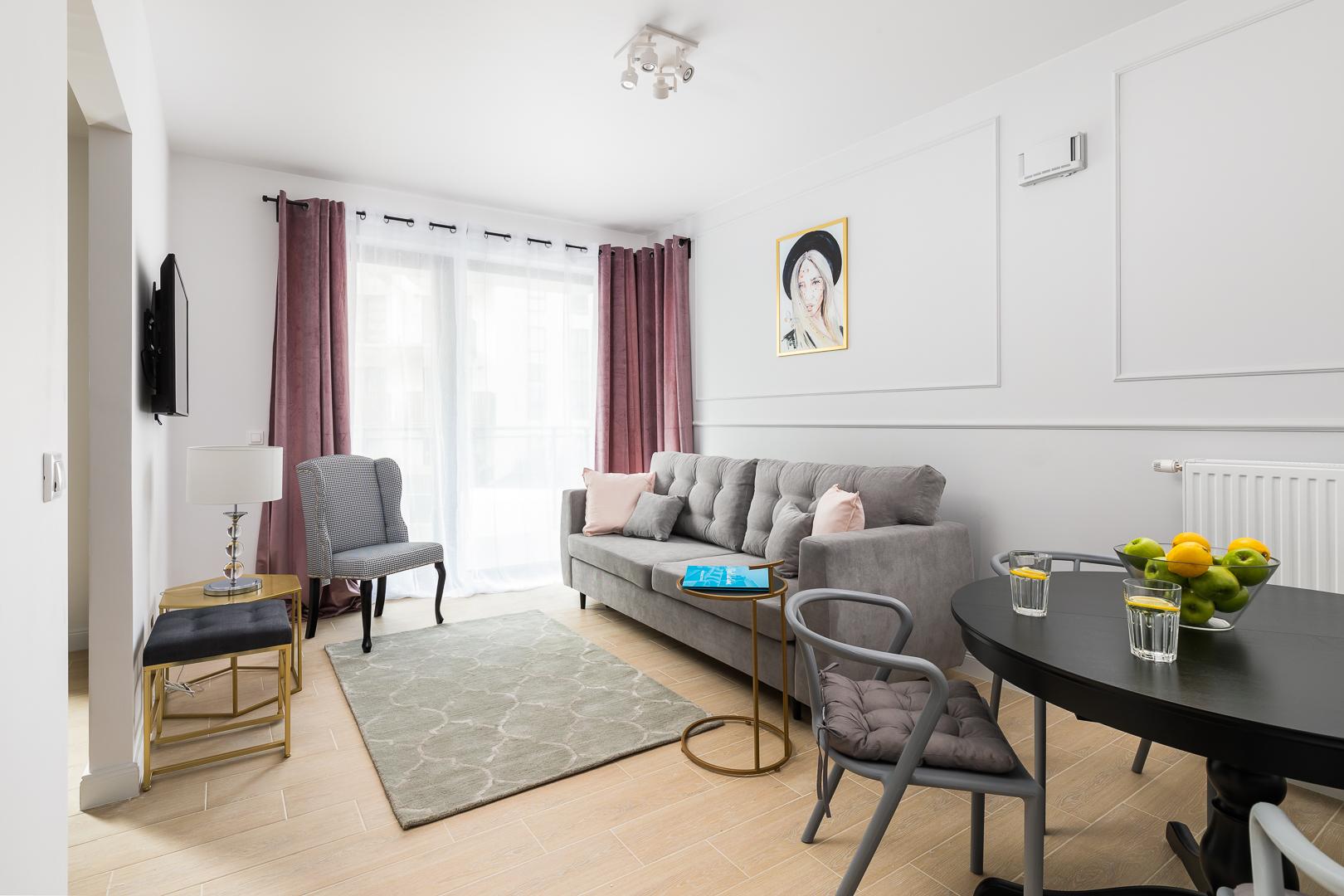Living room at Burakowska Apartments
