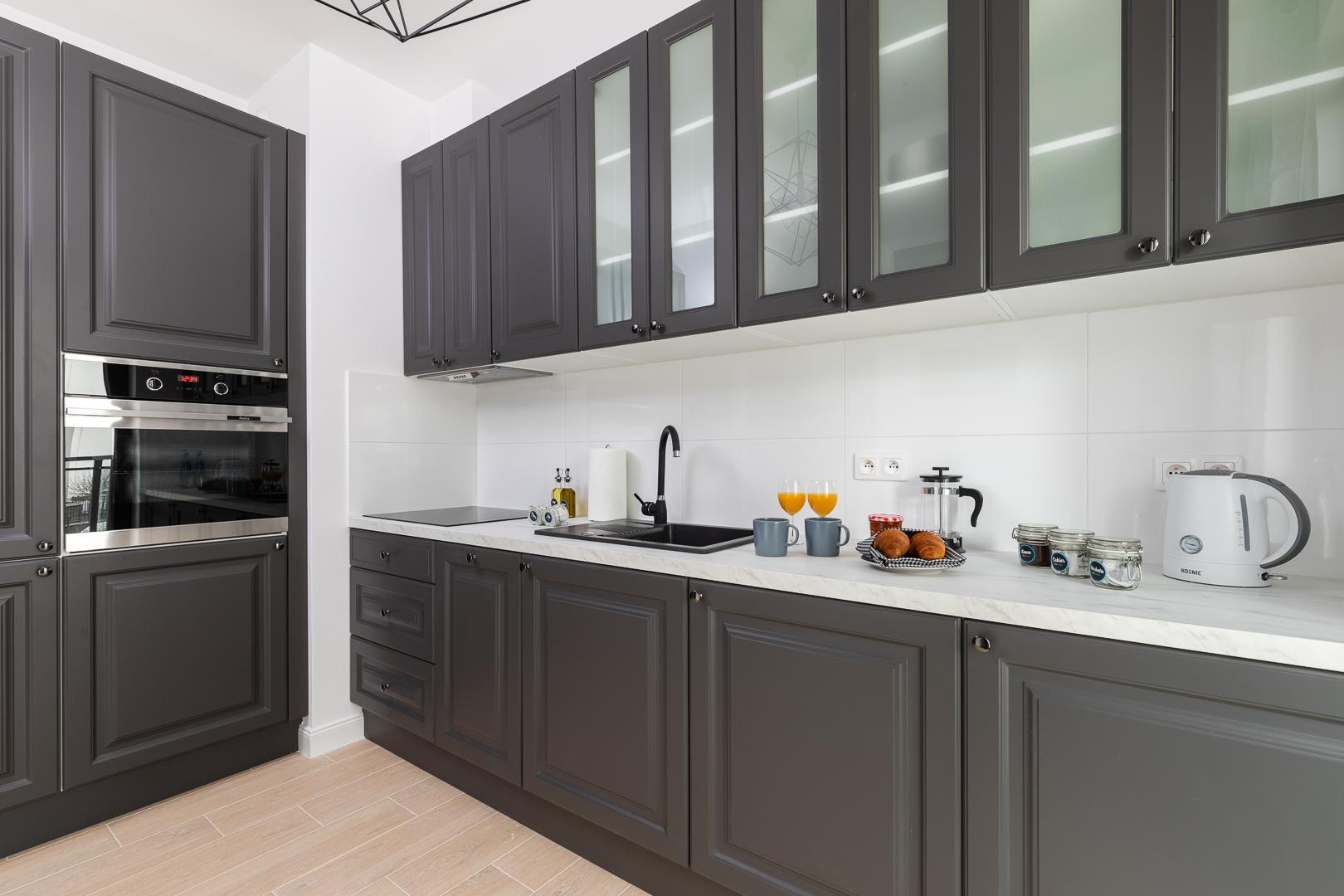 Kitchen at Burakowska Apartments