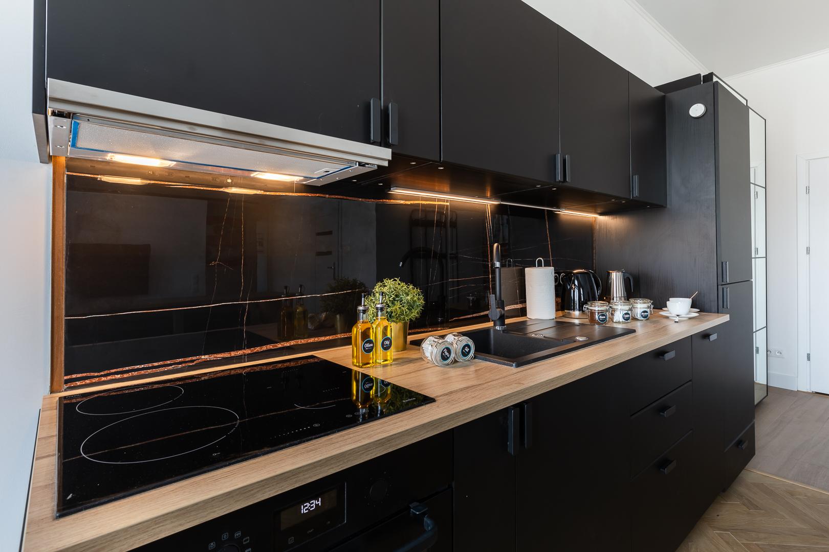 Kitchen at Wspolna Apartments